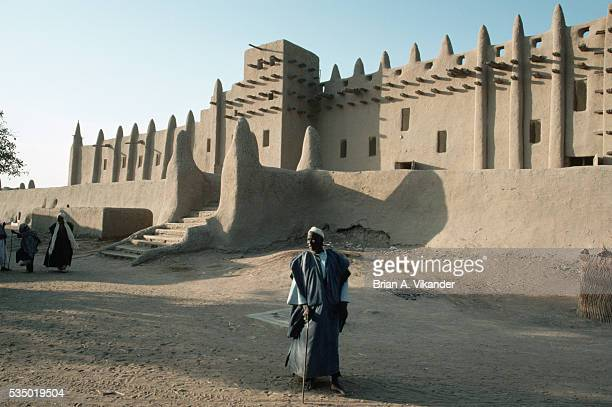 Man Outside the Grand Mosque of Djenne