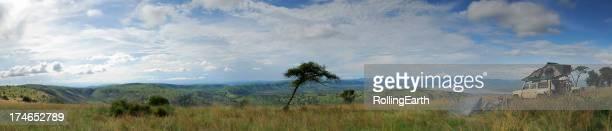Man overlooking a savannah in Rwanda