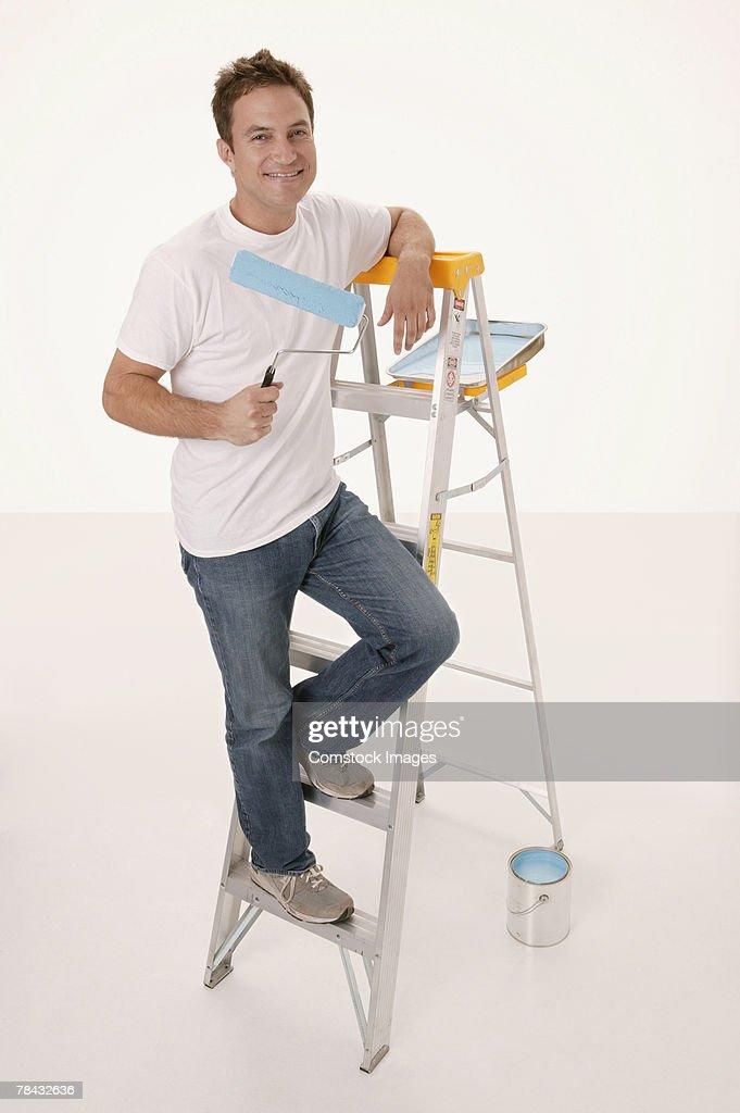Man painting : Stockfoto