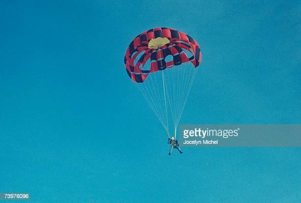 Man parachute jumping