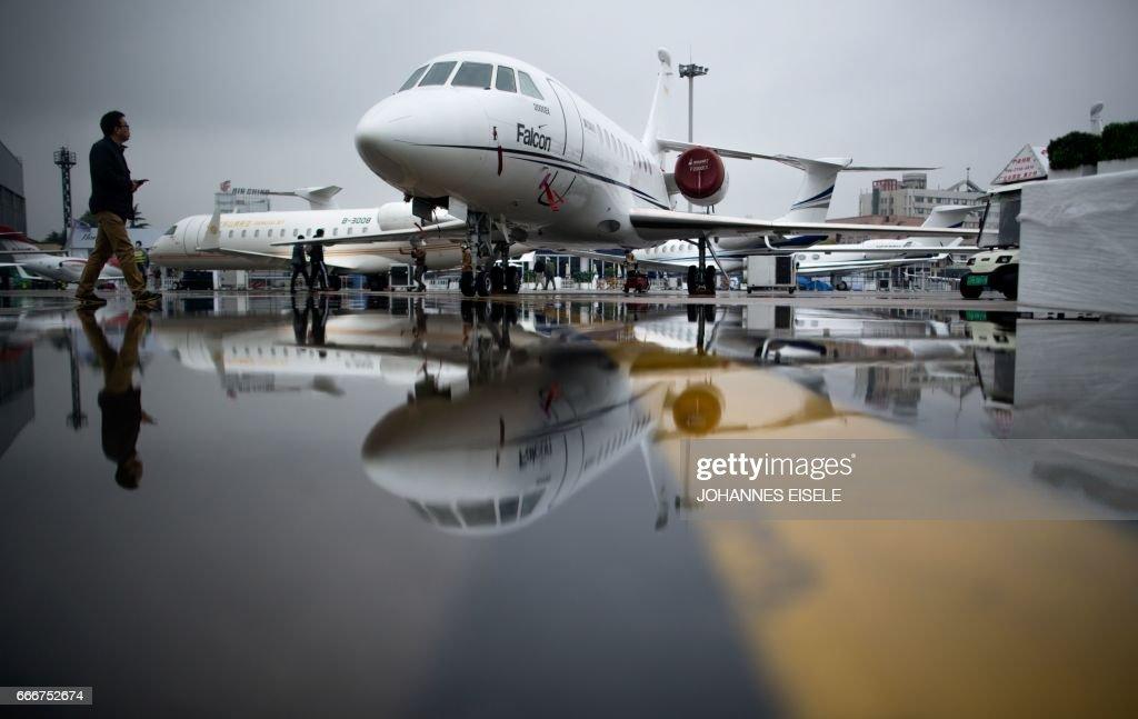 CHINA-AVIATION-ABACE : News Photo