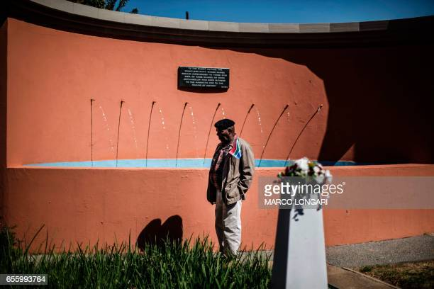 A man pauses at the monument commemorating the victims of the 1960 Sharpeville massacre in Sharpville on March 21 2017 On March 21 1960 after a day...