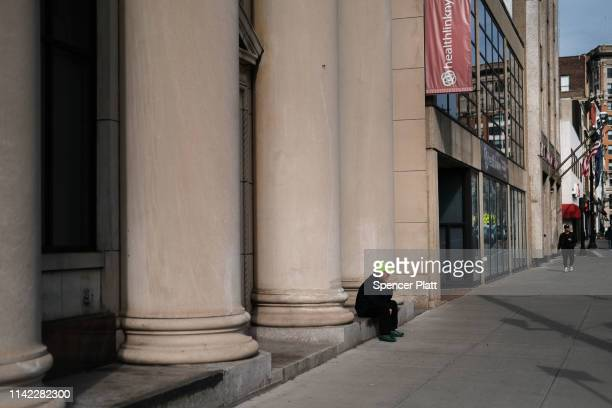 Man pauses on April 11, 2019 in Binghamton, New York. Due to an aging population, falling birthrates and slowing immigration, America is growing more...