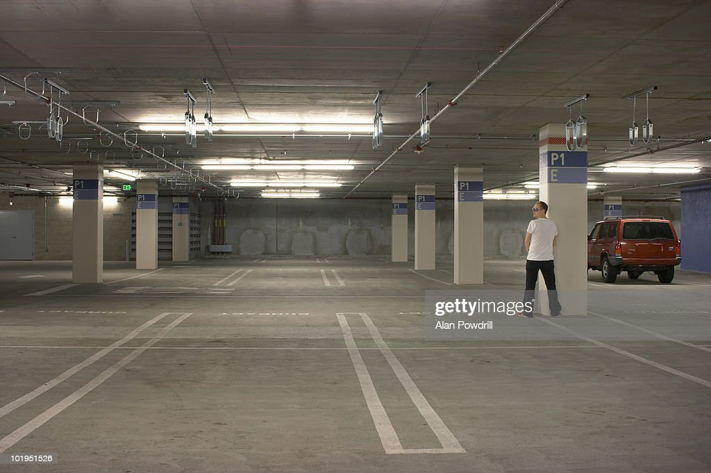 Peeing in carpark