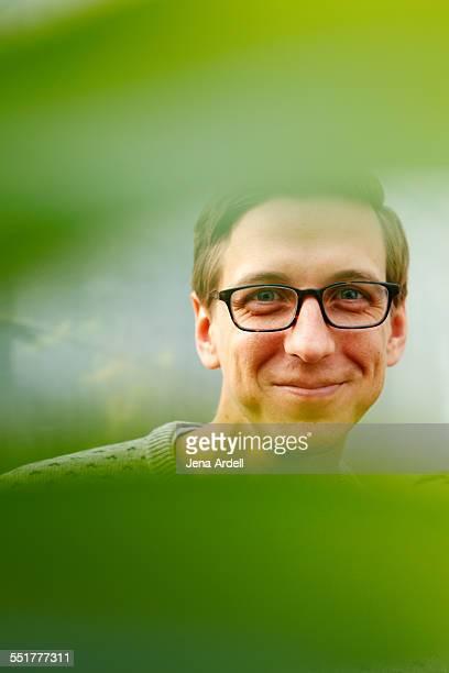 Man Peeking Man Being Playful