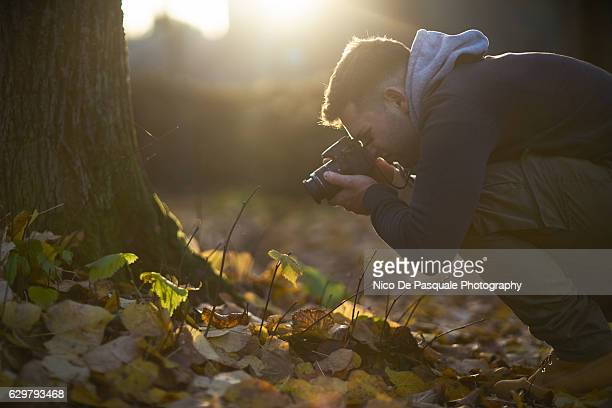 Man photographing Nature