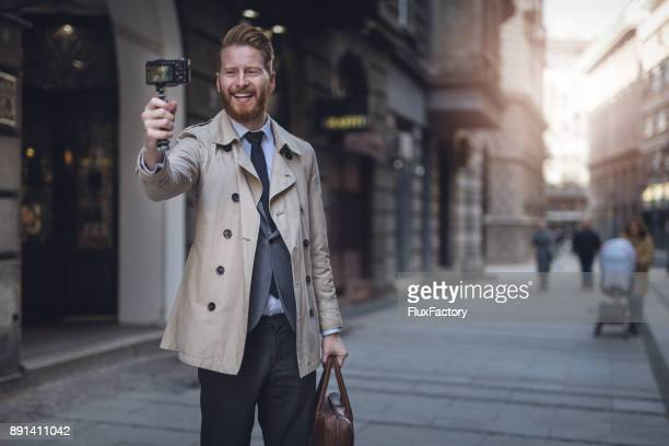 man photographing - vlogging stock photos and pictures