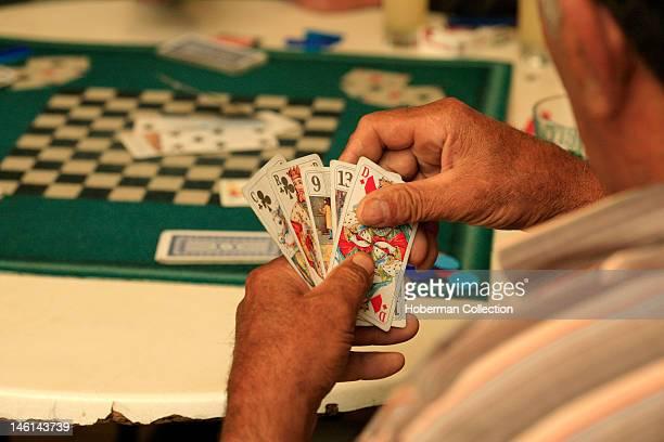 Man Playing Cards PuymŽras Southern France