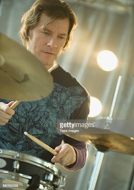 Man playing drums