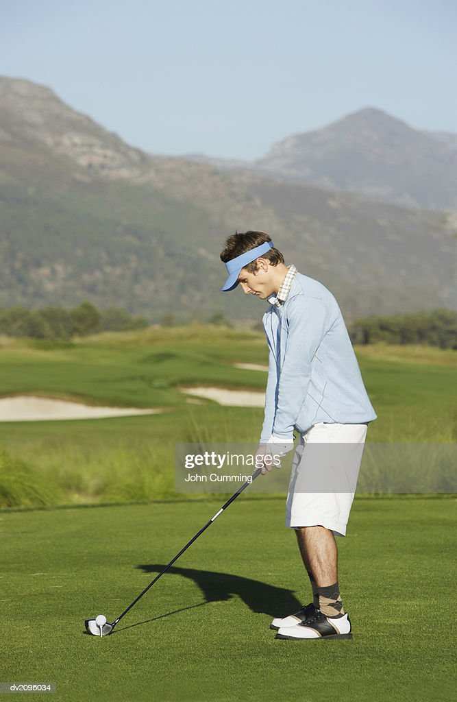 Man Playing Golf : Stock Photo