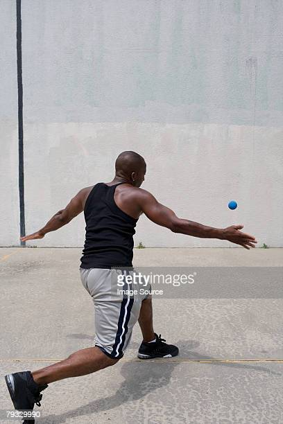 A man playing handball