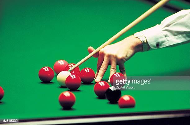 Man Playing Snooker