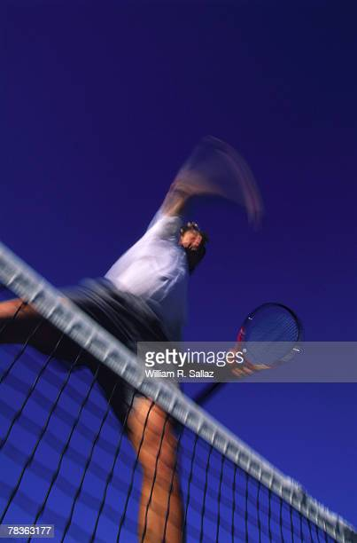 man playing tennis - match point scoring stock pictures, royalty-free photos & images