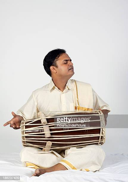 Man playing the tabla