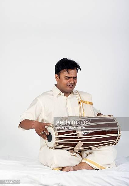 Man playing the tabla