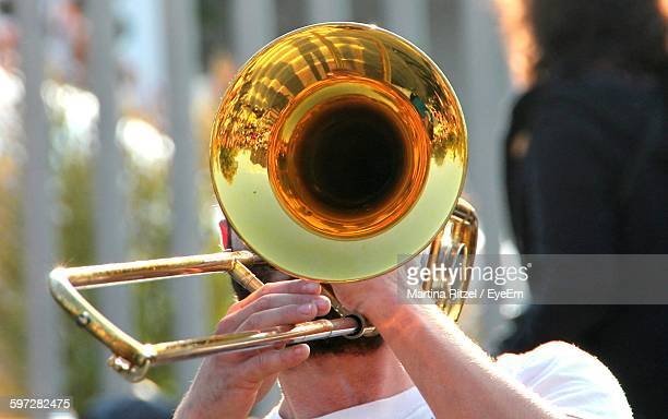 Man Playing Trumpet