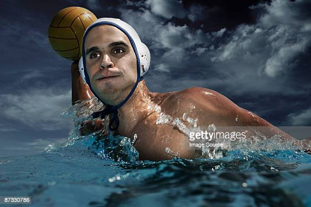 Man playing water polo