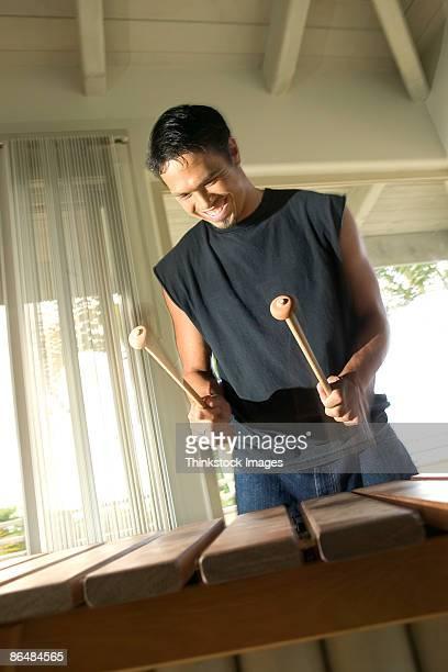 Man playing xylophone
