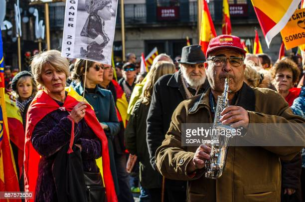 A man plays the saxophone to celebrate the 39 anniversary of the Spanish Constitution Spain celebrates today the 39 anniversary of its Constitution...