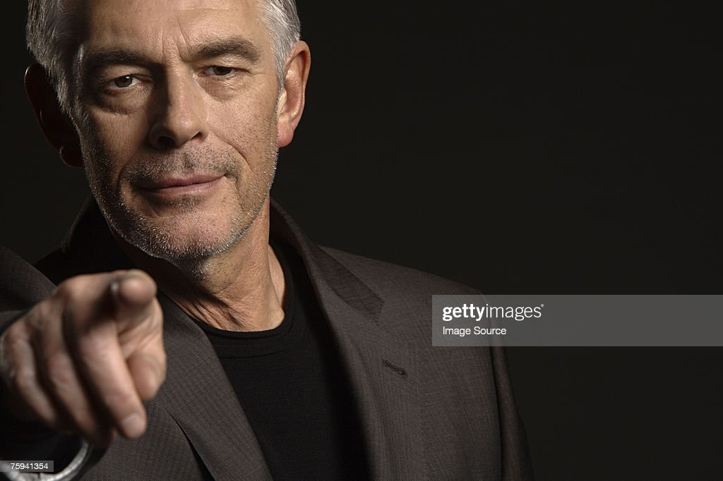 Man pointing : Stock Photo