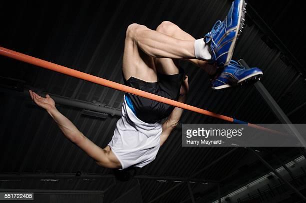 Man Pole-vaulting