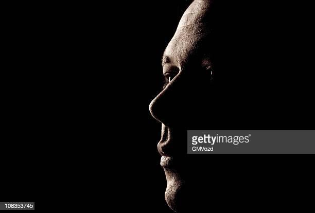 homem retrato - contraluz - fotografias e filmes do acervo