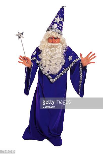 Man portraying Merlin the magician