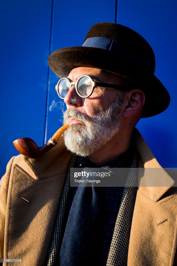Street Style: January 10 - 95. Pitti Uomo : News Photo