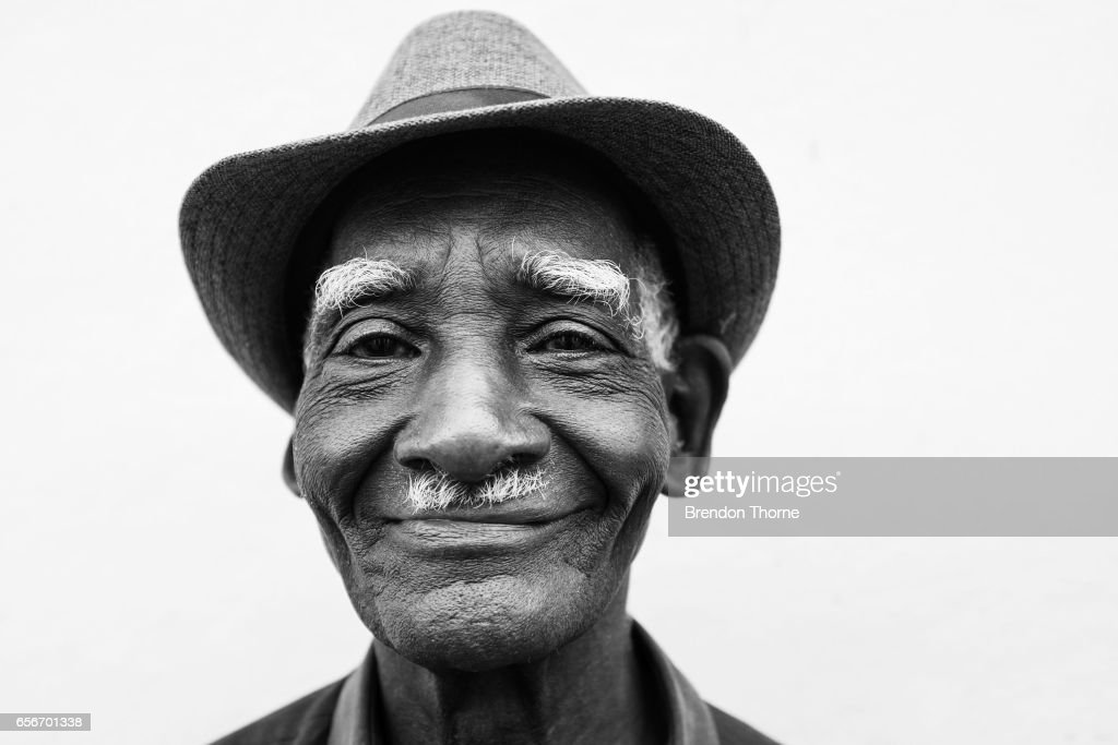 A man poses for a photograph on February 2, 2017 in Matanzas, Cuba.