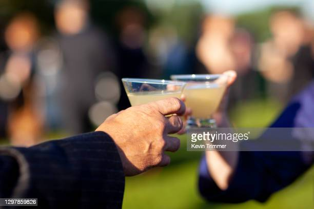 man pouring cocktail into glass at a bar - honour stock pictures, royalty-free photos & images