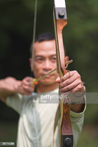 Man Practicing Archery