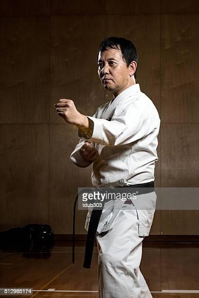 男性の練習空手 - 柔道 ストックフォトと画像