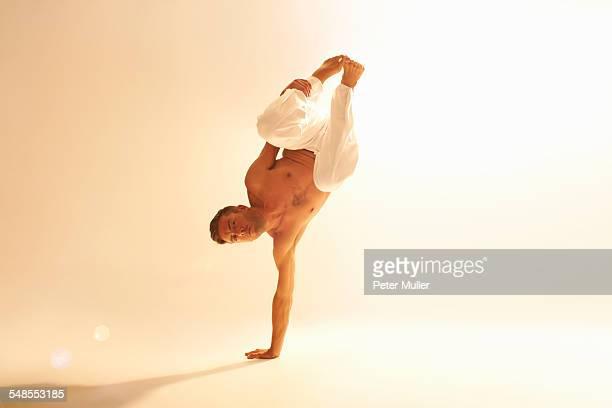 Man practising capoeira