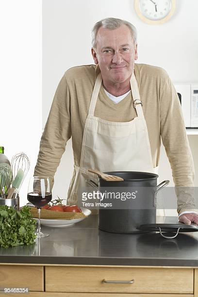 Man preparing food