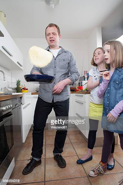 Man preparing pancakes