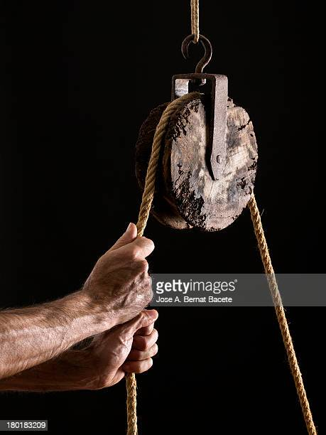 Man pulling the rope