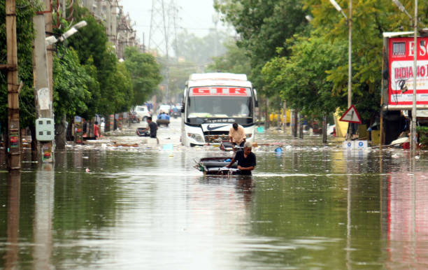IND: Rains Lead To Water Logging In Bhatinda