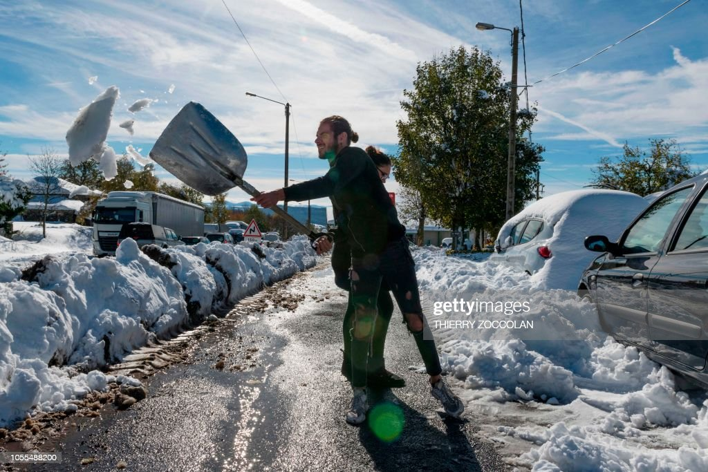 FRANCE WEATHER CIRCULATION SNOW News Photo
