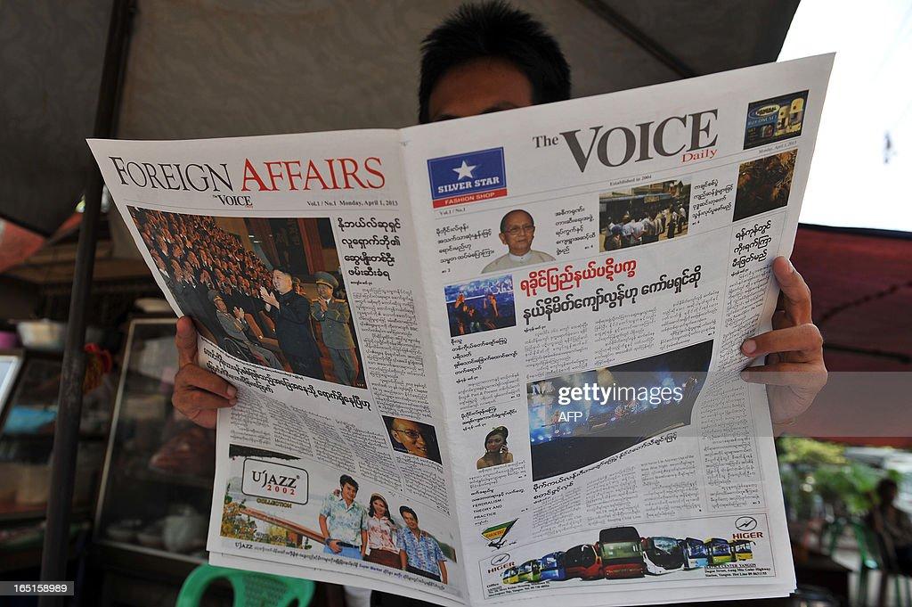 MYANMAR-POLITICS-MEDIA : News Photo