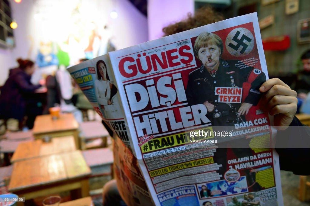 TURKEY-GERMANY-POLITICS-MEDIA-DIPLOMACY : Photo d'actualité