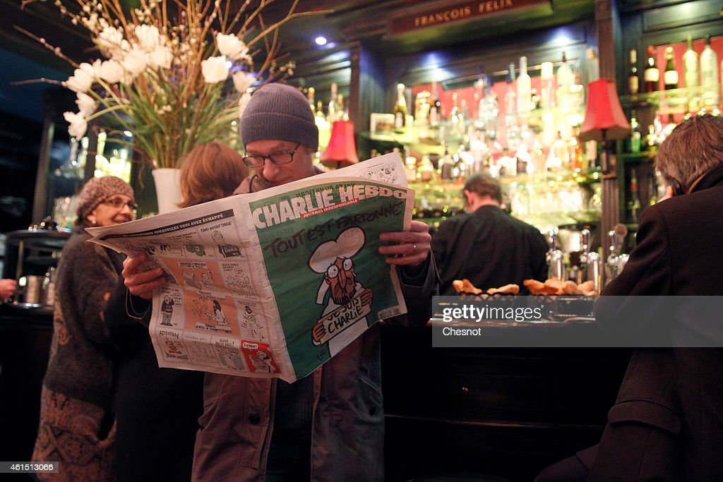 First International Edition Of Charlie Hebdo Published Since Paris Terror Attacks : News Photo