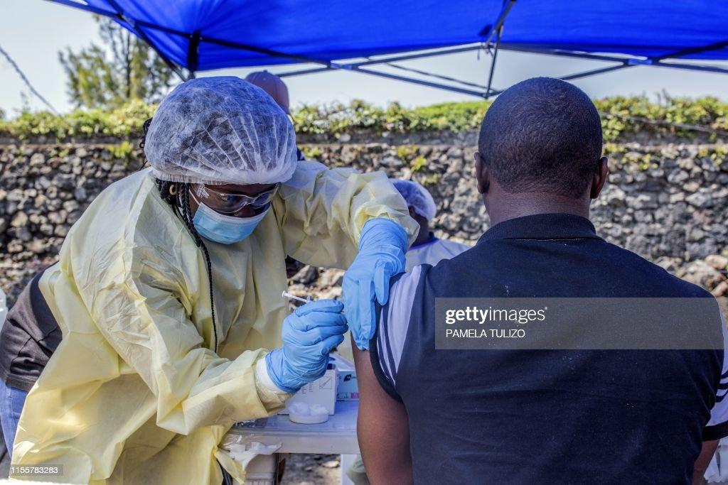 DRCONGO-HEALTH-EBOLA-EMERGENCY : News Photo