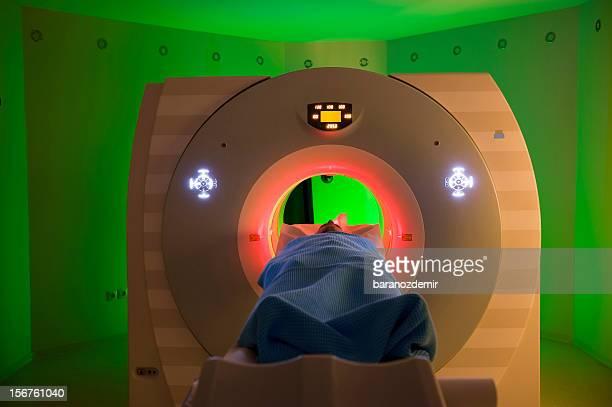 Man Receiving a Medical Scan