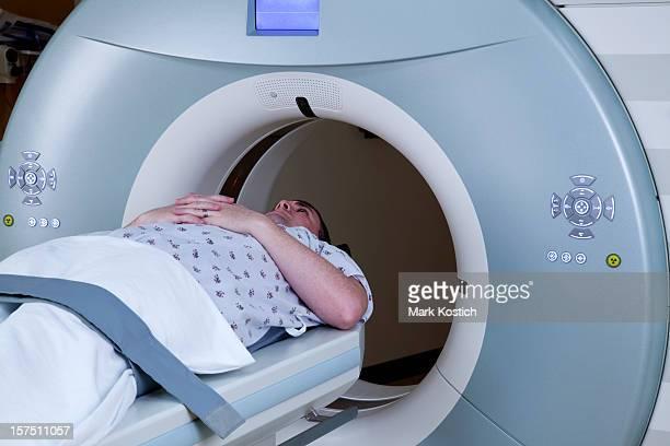 Man Receiving Medical Scan