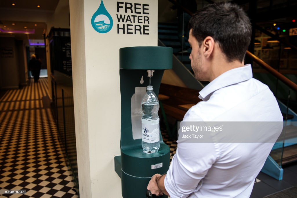 Mayor Of London Introduces Public Water Fountains To Cut Plastic Waste : News Photo