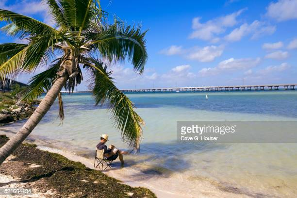 Man Relaxing in Bahia Honda State Park