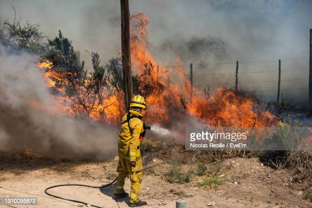 man relaxing on fire - forest fire stock pictures, royalty-free photos & images