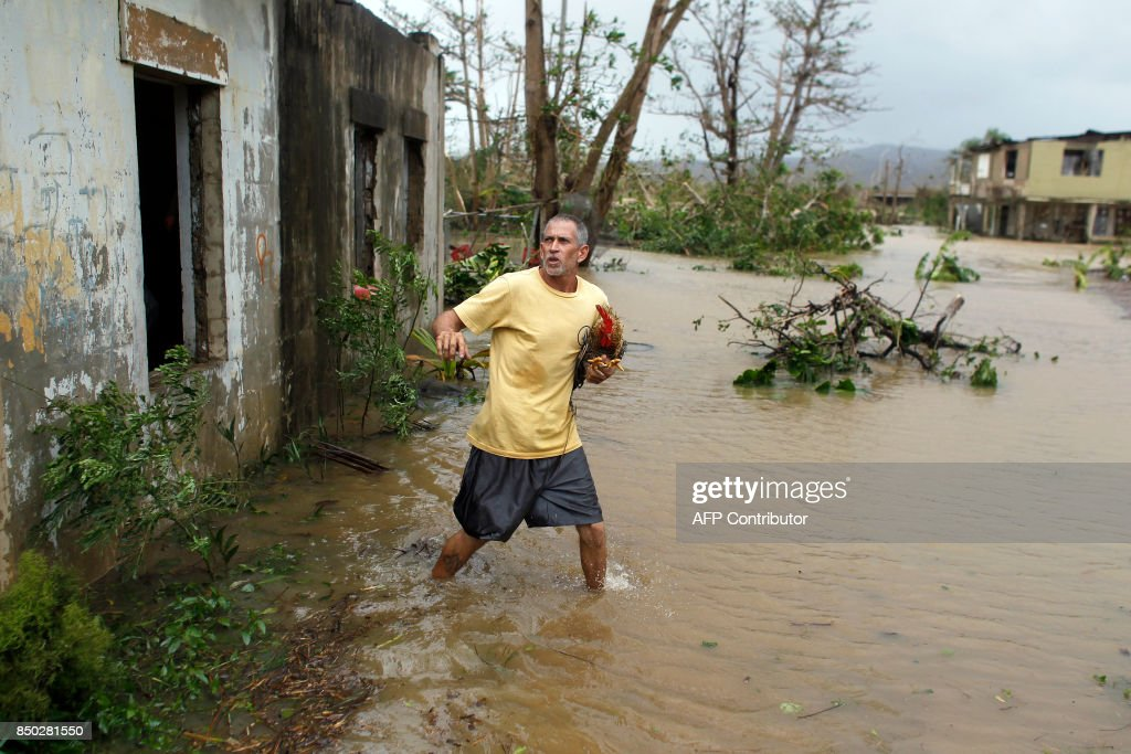 PUERTORICO-CARIBBEAN-WEATHER-HURRICANE : News Photo