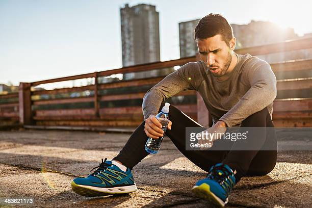 Man resting after workout
