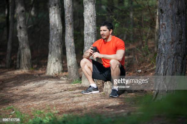 Man Resting In Nature